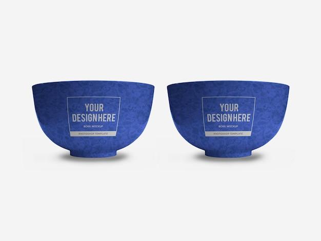 Szablon Makiety Miski Ceramicznej Na Białym Tle Premium Psd