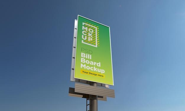 Szablon makiety pionowego billboardu, widok z boku