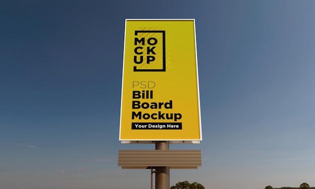 Szablon makiety pionowego billboardu, widok z przodu