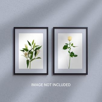 Szablon makiety plakatu i ramki na zdjęcia