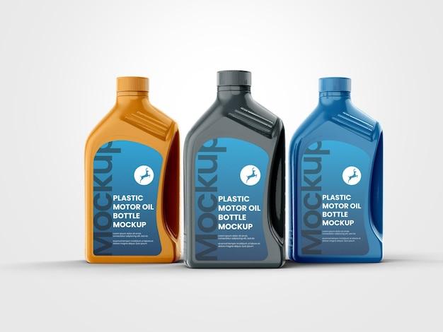Szablon makiety plastikowych butelek oleju silnikowego