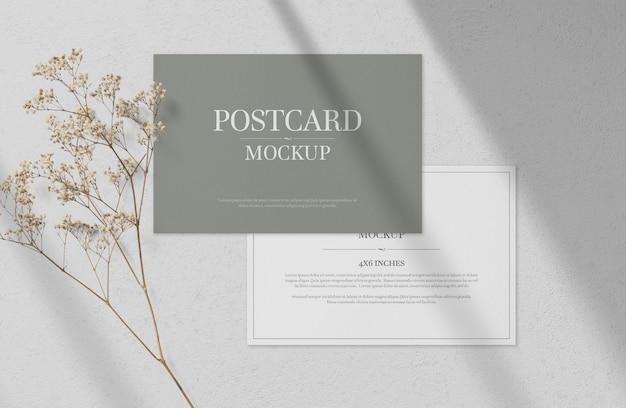 Szablon makiety pocztówki i zaproszenia