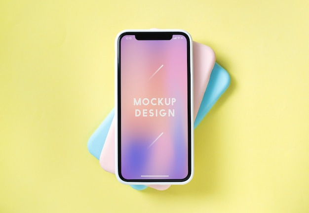 Szablon makiety premium telefonu komórkowego