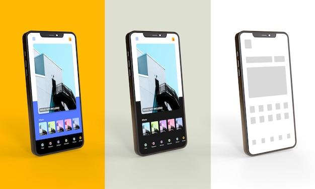 Szablon makiety promocji aplikacji na smartfony