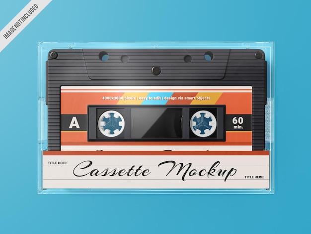 Szablon Makiety Retro Kasety Magnetofonowej Premium Psd