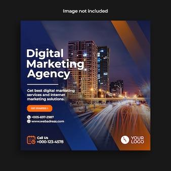 Szablon marketingu cyfrowego instagram media społecznościowe post