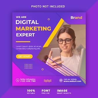 Szablon marketingu cyfrowego mediów społecznych banner postu