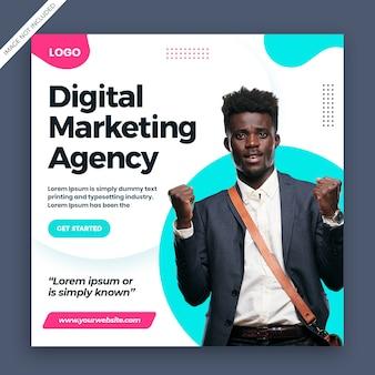 Szablon marketingu cyfrowego mediów społecznych post transparent