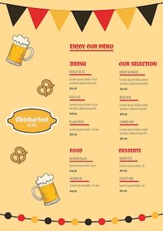 Szablon menu oktoberfest