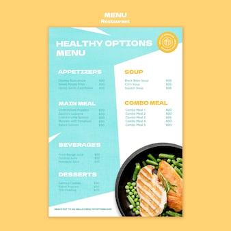 Szablon menu pionowego restauracji