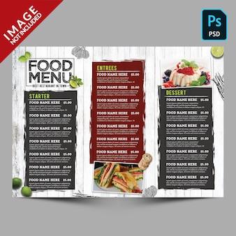 Szablon menu rocznika żywności