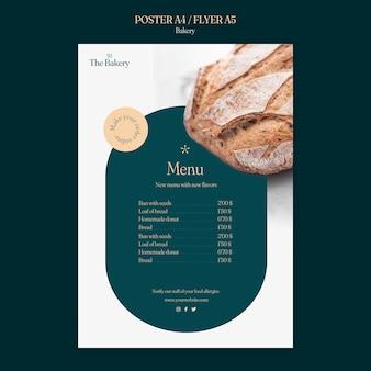 Szablon menu sklepu piekarniczego