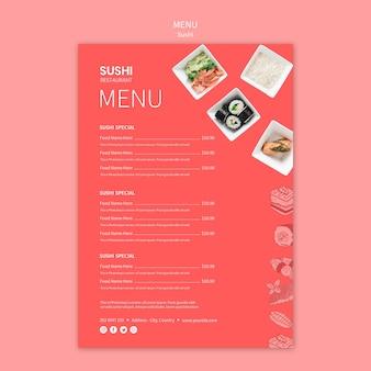Szablon menu sushi