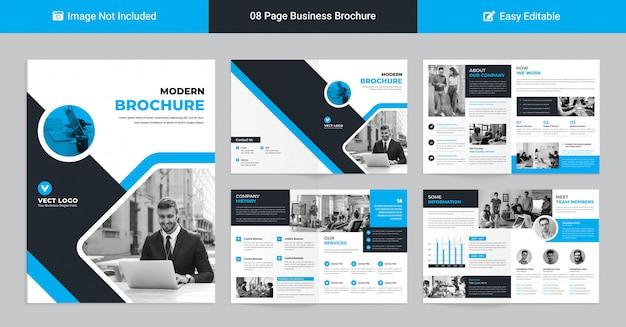 Szablon nowoczesnego profilu korporacyjnego do prezentacji biznesowych