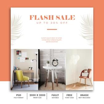 Szablon ogłoszenia sprzedaż mediów społecznościowych flash