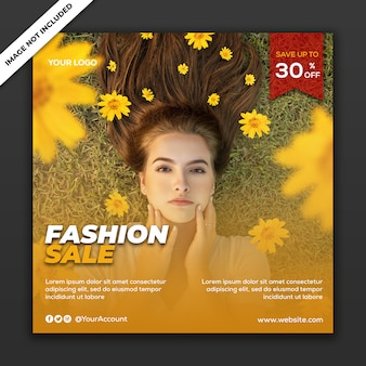 Szablon ogłoszenia w mediach społecznościowych instagram fashion sale collection