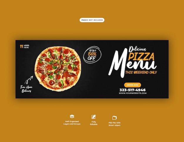 Szablon okładki facebook menu sprzedaży pyszne jedzenie