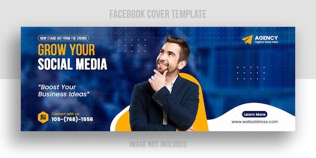 Szablon okładki facebook promocji marketingu cyfrowego