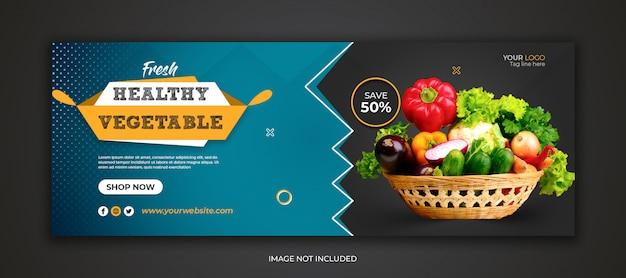 Szablon okładki facebook zdrowej żywności
