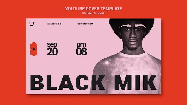 Szablon okładki koncertu muzycznego na youtube