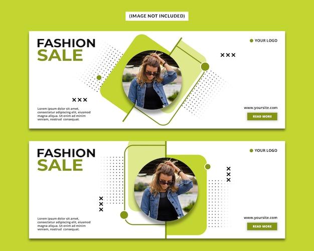 Szablon okładki moda na facebooku
