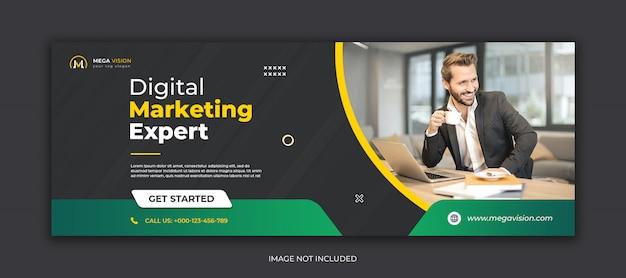 Szablon okładki na facebooka do marketingu cyfrowego