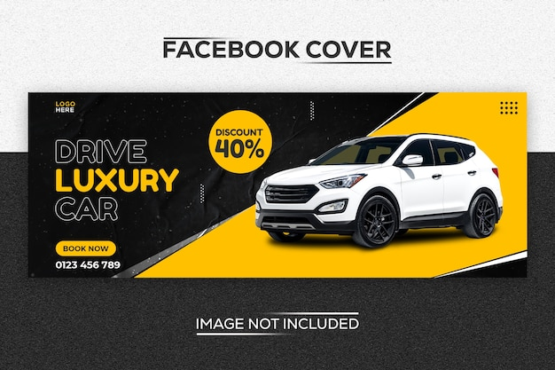 Szablon okładki nowoczesny samochód na facebooku