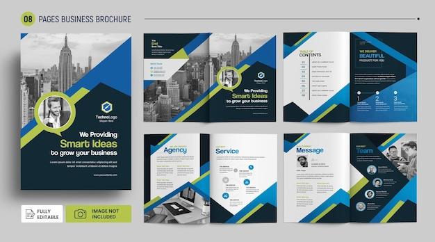 Szablon okładki profilu firmy broszura korporacyjna