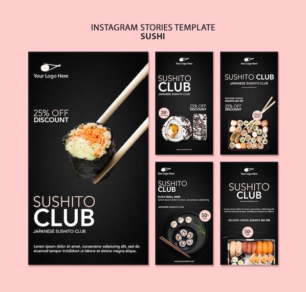 Szablon opowiadań instagram restauracja sushi