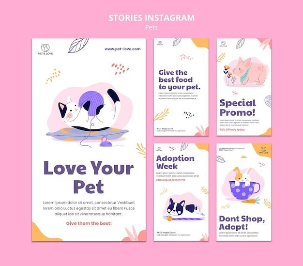 Szablon opowiadań na instagramie dla zwierząt domowych