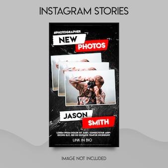 Szablon opowiadań na instagramie fotografa