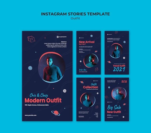 Szablon Opowiadań Na Instagramie Koncepcja Strój Premium Psd