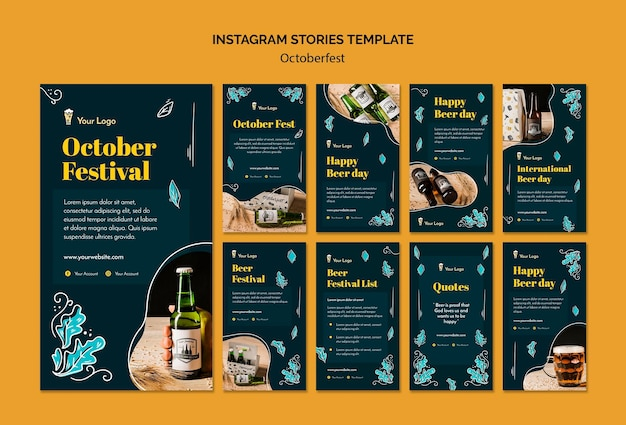 Szablon opowiadań na instagramie oktoberfest