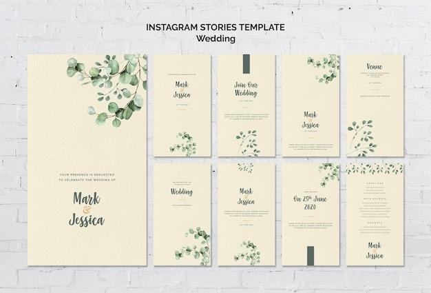 Szablon opowieści ślubne instagram