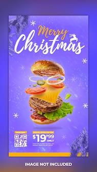 Szablon opowieści świąteczna promocja żywności