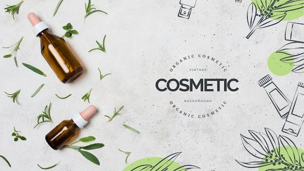 Szablon organicznych kosmetyków biznesowych
