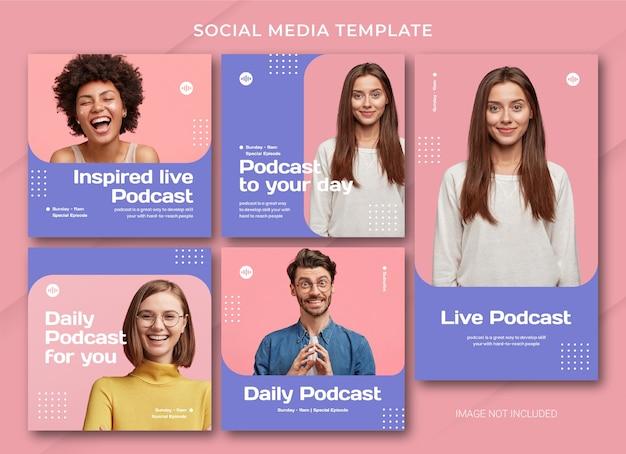 Szablon pakietu mediów społecznościowych podcastów