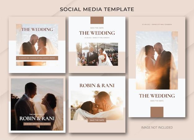 Szablon pakietu postów w mediach społecznościowych