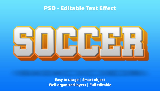 Szablon piłki nożnej z efektem tekstu