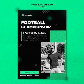 Szablon pionowego plakatu piłkarskiego
