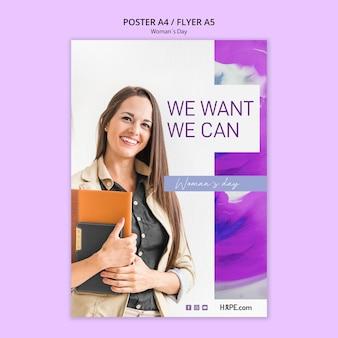Szablon plakat dzień kobiet