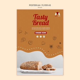 Szablon plakat koncepcja chleba