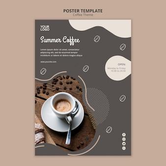 Szablon plakat koncepcja kawiarnia