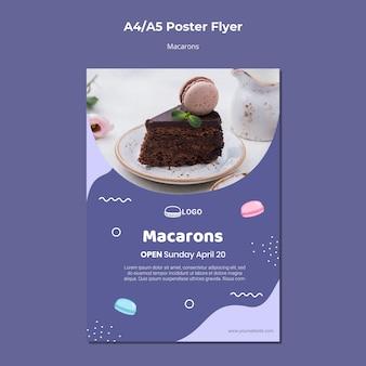 Szablon plakat koncepcja macarons