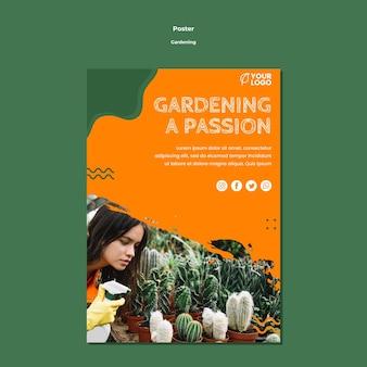 Szablon plakat koncepcja ogrodnictwo