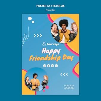 Szablon plakat koncepcja przyjaźni