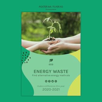 Szablon plakat koncepcja środowiska