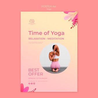 Szablon plakat lekcje jogi ze zdjęciem
