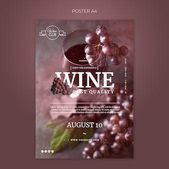 Szablon plakat najlepszej jakości wina