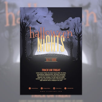 Szablon plakat party Halloween